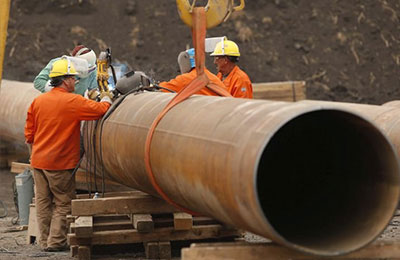 1550 Tons LSAW Steel Pipe For Chile Pipeline Project