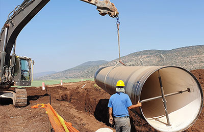 900 Tons SSAW Steel Pipe & Fittings For Philippines Government Project