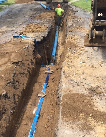 Water supply pipeline project